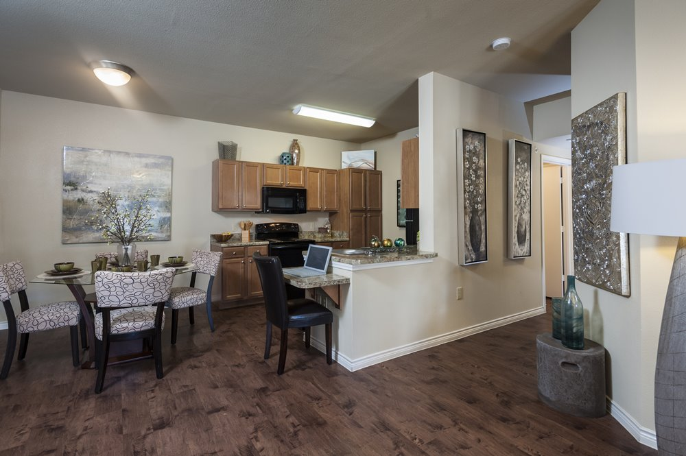 Dining/Kitchen and Hallway to Bedrooms