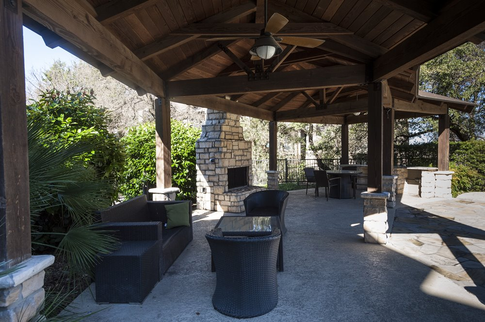 Outdoor Seating with Ceiling Fans
