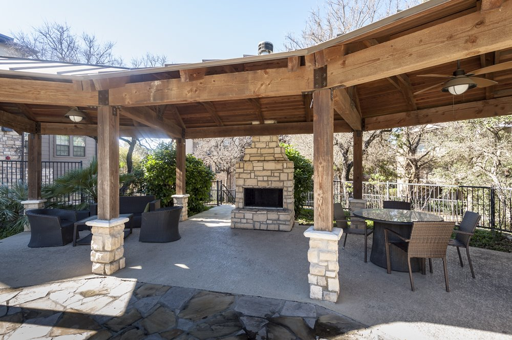 Judson Pointe Outside Seating with Fire Place