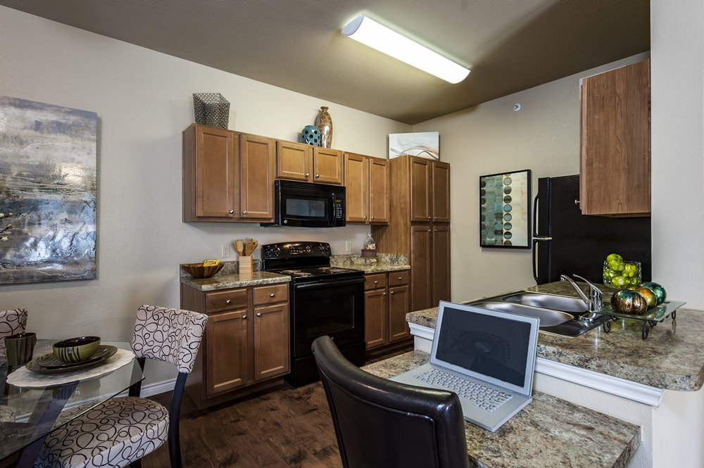 Spacious Kitchen With Small Desk