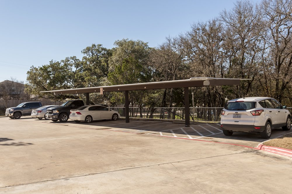 Parking Lot with Overhead Shading